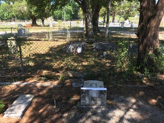 headstones damaged in suspected vandalism at milton cemetery