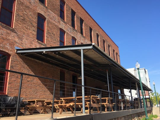 The patio at the under-construction Bread and Circus Sandwich Kitchen should seat nearly 100 people. The restaurant at 600 N. Main Ave. should open later this month.