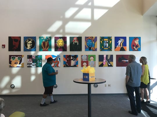 Students at Mount San Jacinto Learning Center contributed pop art to the show at UCR Palm Desert.