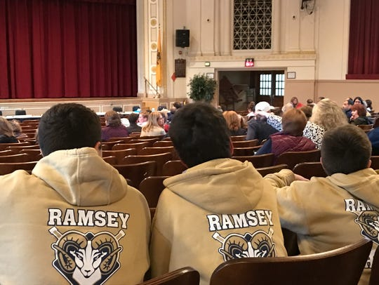 Ramsey High School students show support for   their