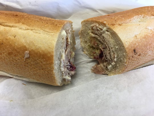 Capriotti's Bobbie sandwich has turkey, cranberry sauce,