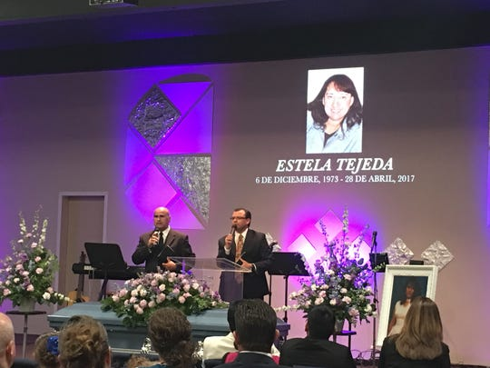A memorial was held for Estela Tejeda-Camacho in May 2017 several days after she died from injuries suffered in a hit-and-run crash at the Ventura County Government Center.
