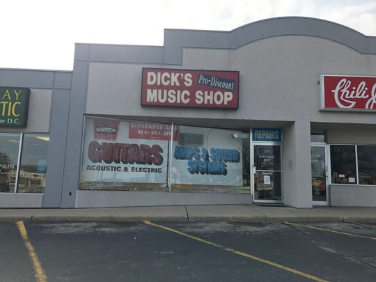 After 35 years in business, Dick's Music Shop owner