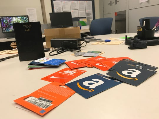 Evidence suspected of being used to track gift card numbers then use them once they are activated by a victim is was recovered during a probation search on May 2 at an Oxnard man's home, authorities said.