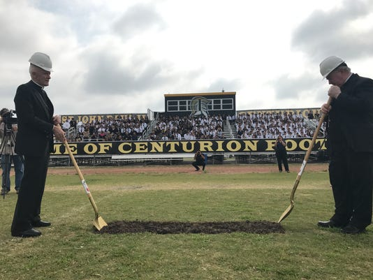 Football field groundbreaking