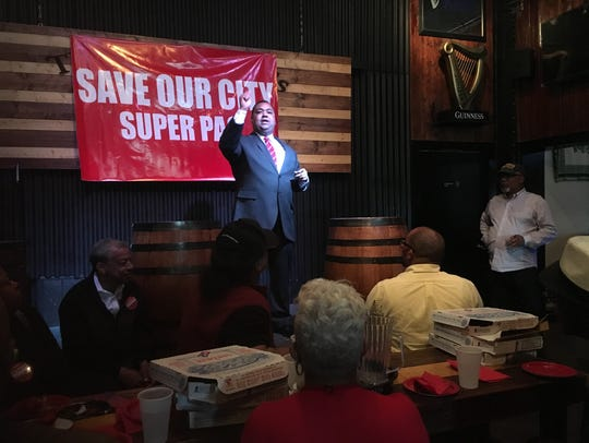 State Sen. Coleman Young II, a candidate for Detroit