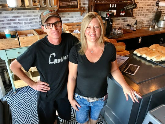 Owners Sean and Valerie Gavin of Crave restaurant in