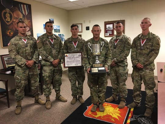 Members of Comanche Troop with 1-1 Cav won the Gainey