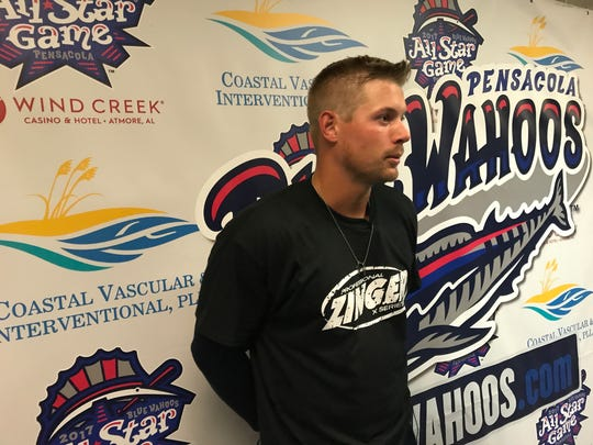 Blue Wahoos outfielder Brian O'Grady talks about his game-winning hit Thursday night that gave the Blue Wahoos a 3-2 walkoff win against Mobile.