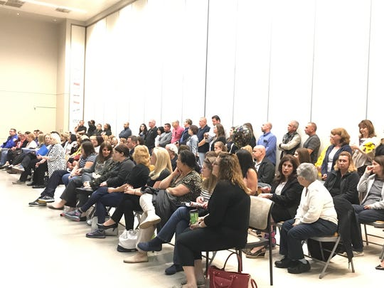 It was standing-room-only at Monday's Garfield Board of Education meeting.