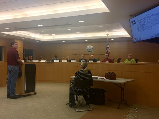 Jason DeGise, co-owner of Demarest Farms in Hillsdale, testified before the Bergen County Agricultural Development Board on Monday.