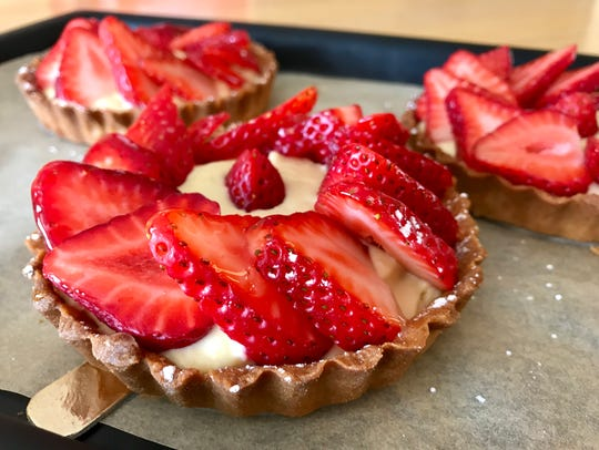 Strawberry tartlets from My Sweet Art in Cape Coral.