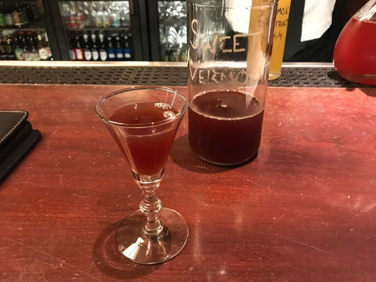 The homemade sweet vermouth at Django.