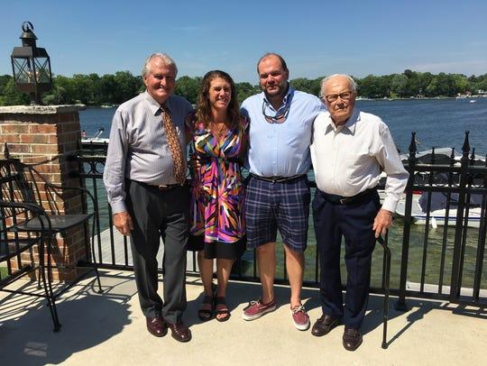 Three generations! Hans Weissgerber Jr., Lisa Weissgerber