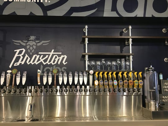Beer taps at the new Braxton Labs, inside the Party