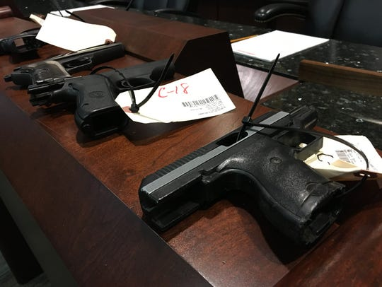 Nearly a dozen guns have been confiscated from juveniles