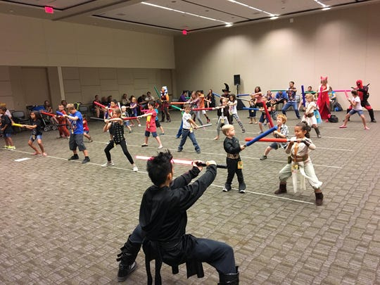 The Phoenix Lightsaber Academy hosted a workshop for