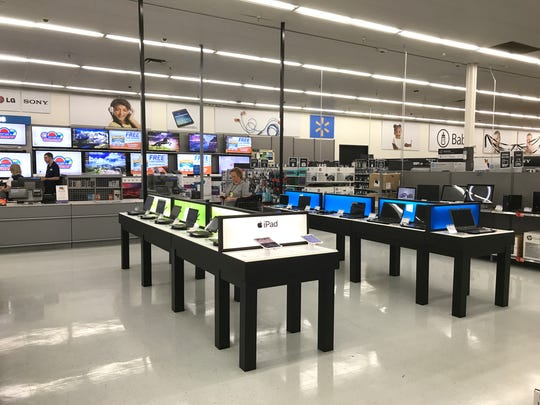 The electronics section at Walmart in Manahawkin got a makeover.