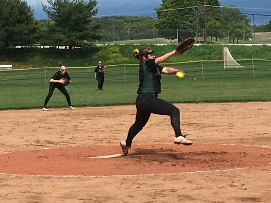 North Hunterdon junior lefty Maggie Swan tossed a three-hit shutout, walking two and striking out 11 Friday
