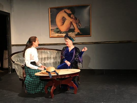 "Yvonne Molera, left, and Pam Knight rehearse for ""Gigi,"""