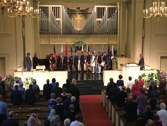 Trinity Presbyterian Church held a Memorial Day service