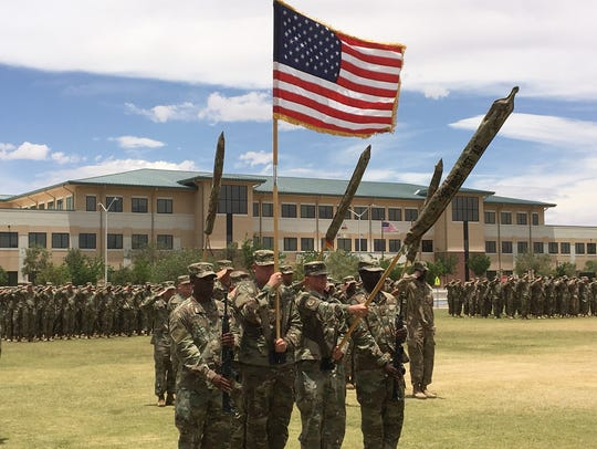 The 3rd Armored Brigade Combat Team held an uncasing
