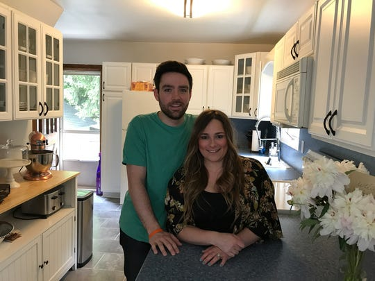 Tim and Jamie Eisenhardt in the kitchen of their new Bloomingdale house.