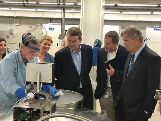 Bennet tours USDA seed bank