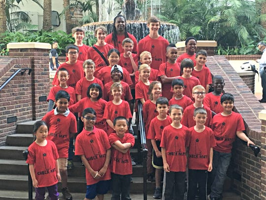 Students from the Chess Masters of Delaware a the 2017 United States Chess Federation National Elementary Championship in Nashville, Tennessee.