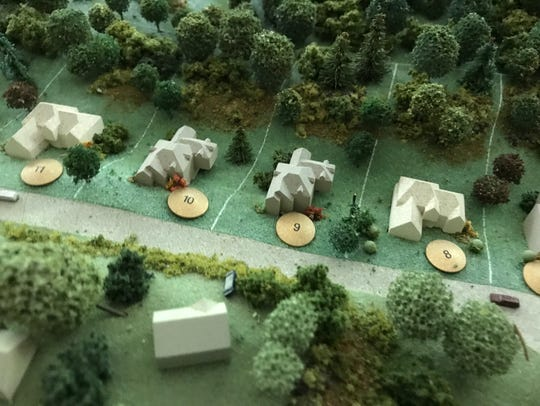 An old model of the vision for Mountain Lakes Estates