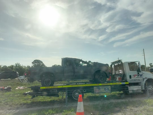 A rollover crash on I-75 in Charlotte County injured 14 people and caused major delays on Thursday, June 1, 2017.