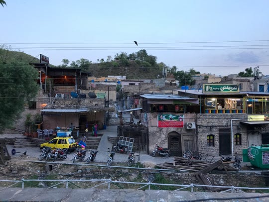 Dusk settles over Saidpur Village near Islamabad, Pakistan.
