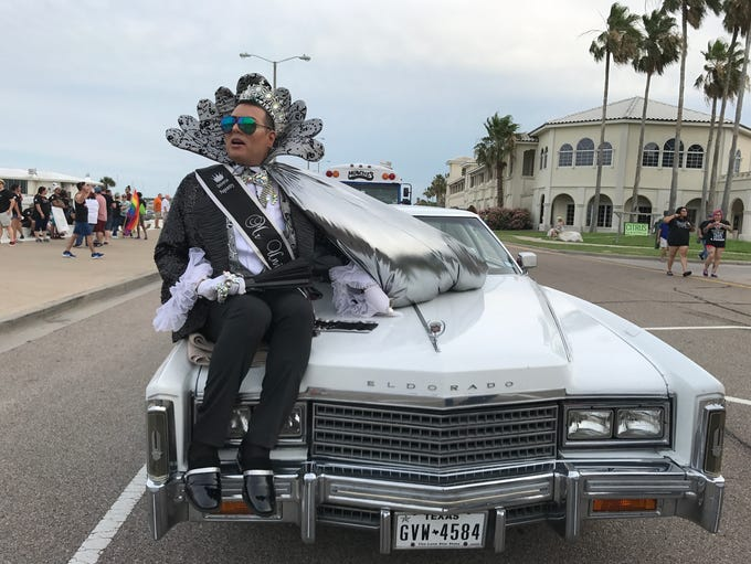 Mr. Gay Universe Skyler Bellavia participated in Corpus