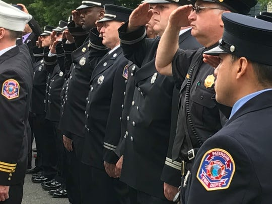 Paterson firefighters honoring their fallen comrades