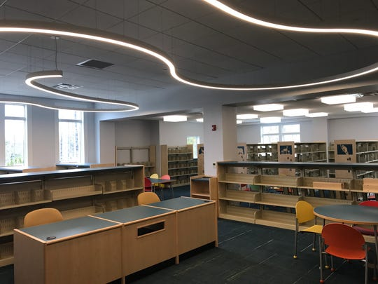 The interior of West Milford's new library as seen on April 24, 2017