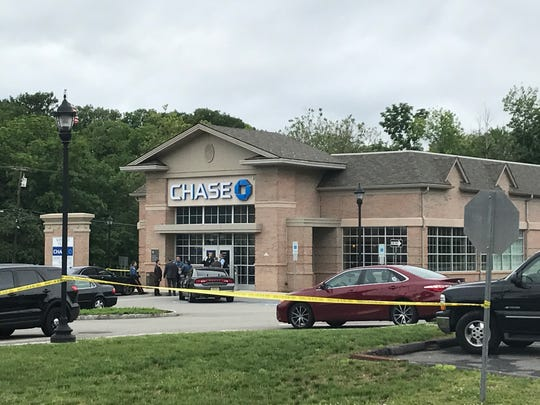 Law-enforcement at the scene of a bank robbery at Chase Bank on Route 10 West in the Whippany section of Hanover. June 6, 2017.