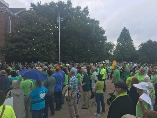 Pro-life supporters flocked to Legislative Hall to