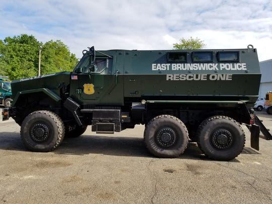 The East Brunswick Police Department's newly acquired rescue vehicle.