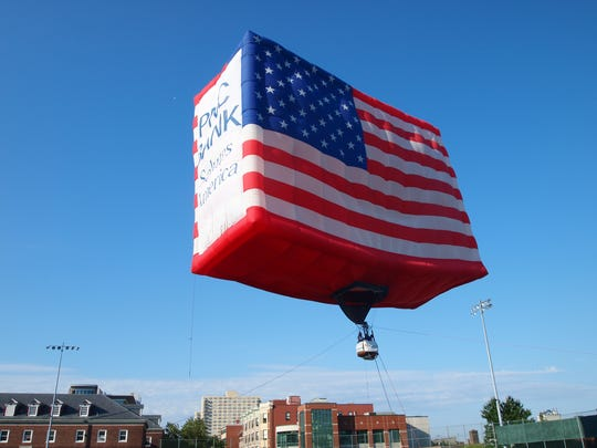 The PNC American Flag balloon, the world's largest free-flying American flag, will be inflated on Flag Day, Wednesday, June 14, to celebrate the 240th anniversary of the adoption of the national flag by the Continental Congress on June 14, 1777.