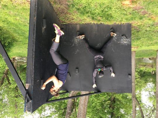 Chris Anne Myers and Courtney Kaczmark on a 'Z-Wall'