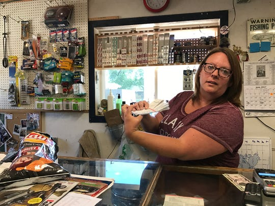 Donna Bumann, owner of the Bait Box and motel in Lake