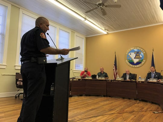 Liberty City Fire Department Chief Chris Rowland praises
