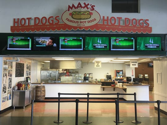 Max's Famous Hot Dogs in its new location at the Monmouth