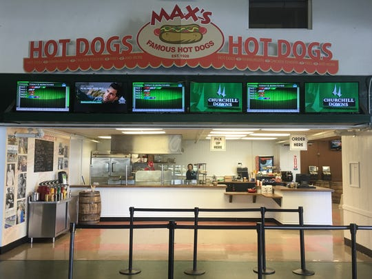 Max's Famous Hot Dogs in its new location at the Monmouth Park Racetrack in Oceanport.