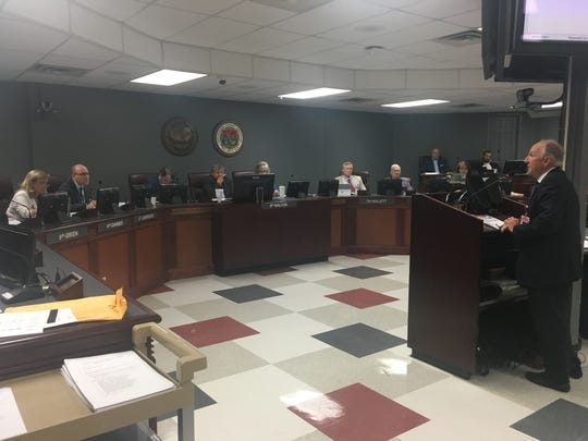 Don Webb, CEO of Williamson Medical Center, speaks to County Commission during its meeting June 12.