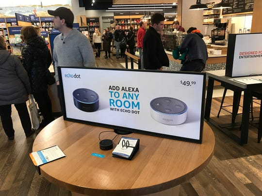 Customers can try out Kindle, Echo and other Amazon electronic devices in the bookstore.