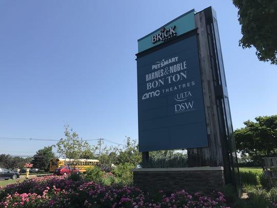 Sign at Brick Plaza.