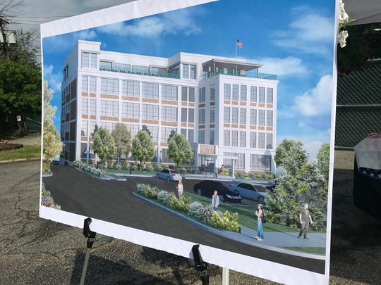 A rendering of the future of the Annin Flag building on Bloomfield Avenue in Verona.