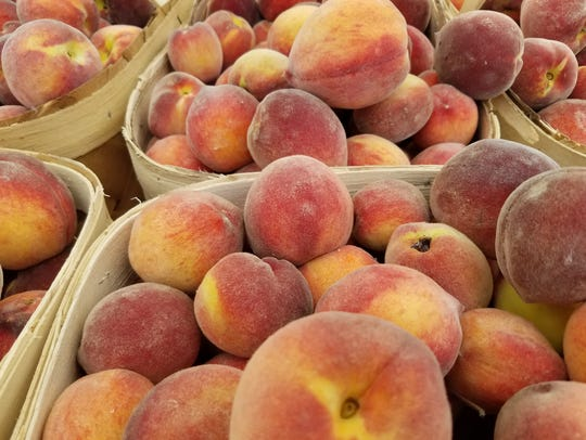 Peaches are now coming in to WNC tailgate markets.