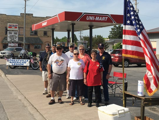 Members of the Forestville American Legion Post and